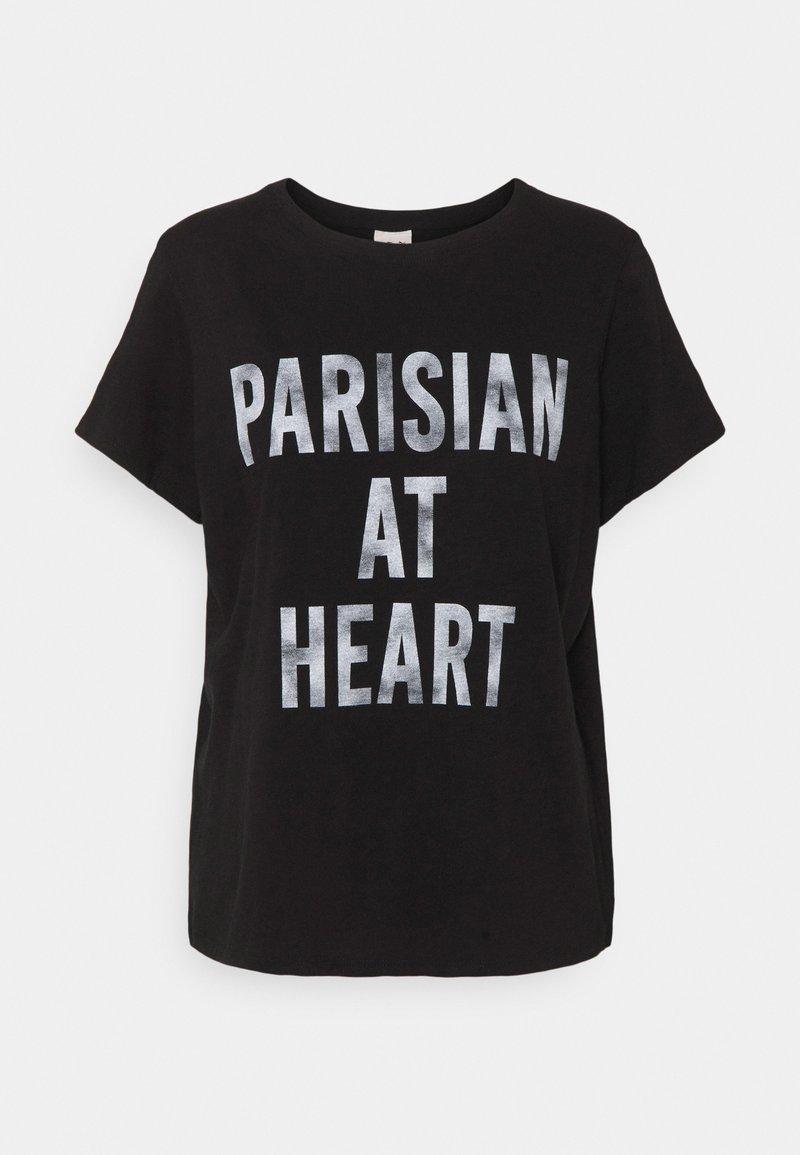 Cinq à Sept - PARISIAN AT HEART TEE - T-shirt print - black/white