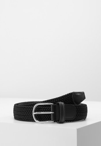 STRECH BELT UNISEX - Braided belt - black
