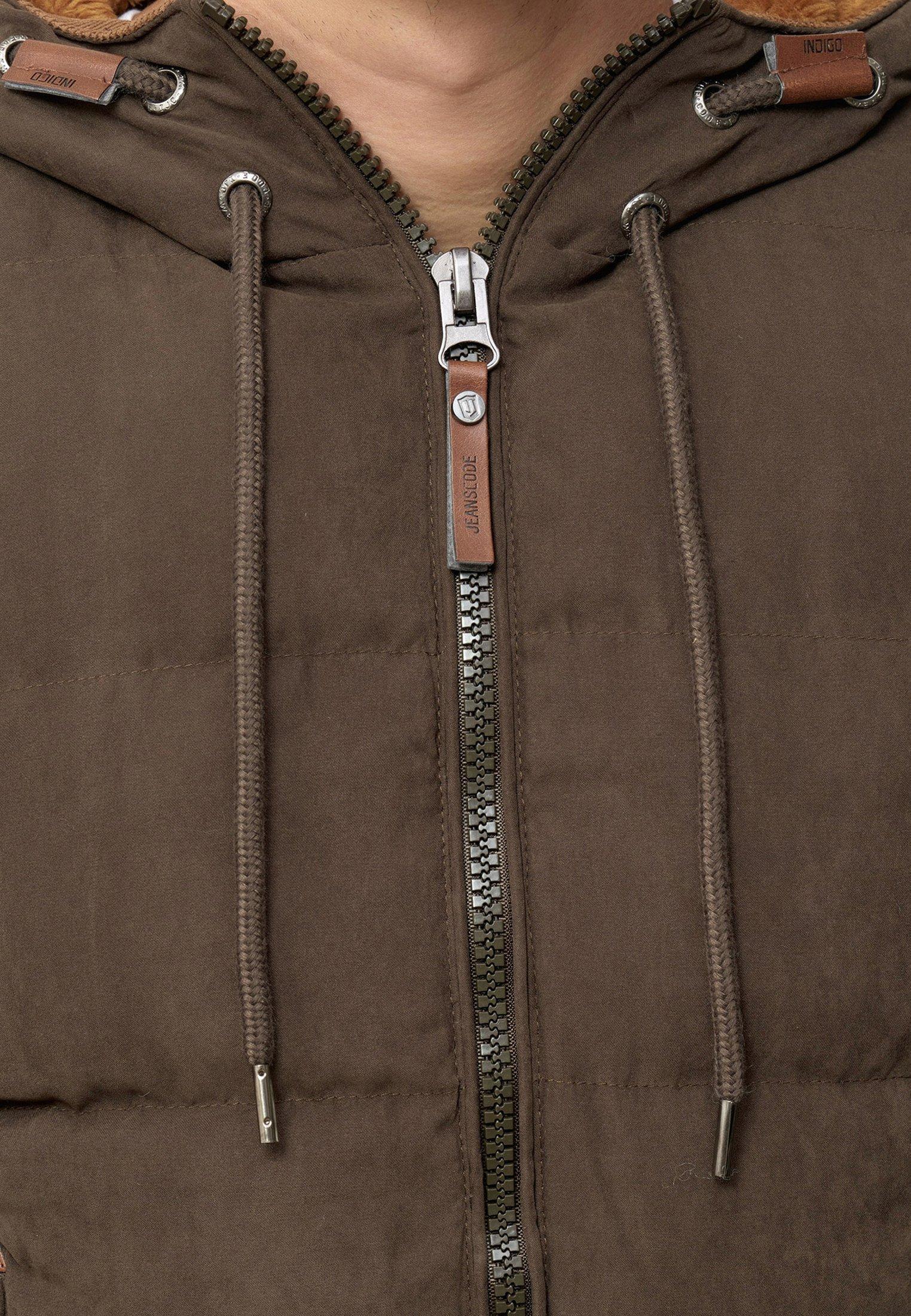 INDICODE JEANS Veste d'hiver - mottled brown