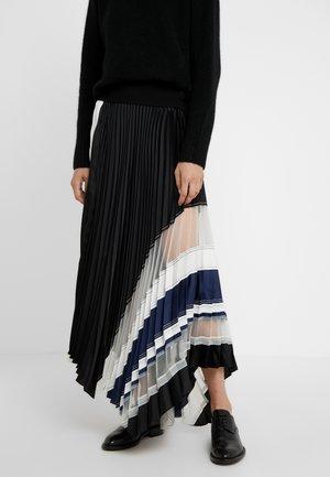 PLEATED SKIRT WAIST BAND - Áčková sukně - black/navy