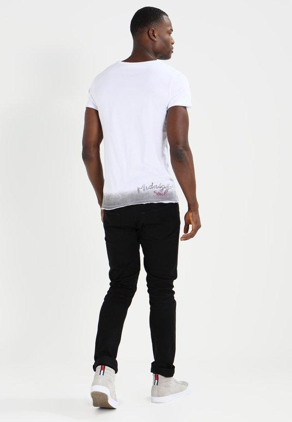 Key Largo ALIVE - T-shirt z nadrukiem - white/biały Odzież Męska WEQZ