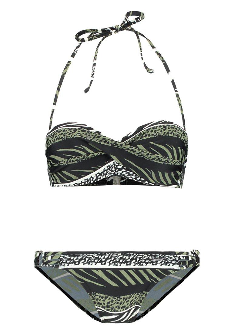 Women ANIMAL WIRE BANDEAU SET - Bikini