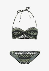 ANIMAL WIRE BANDEAU SET - Bikini - oliv