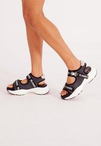 Ed Hardy - AQUA  - Walking sandals - iridescent charcoal - 1