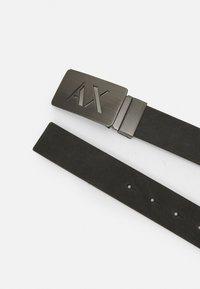 Armani Exchange - BELT - Belt - dark gray/black - 1
