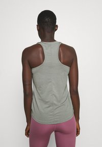 Nike Performance - ONE SLIM TANK - Topper - particle grey/black - 2