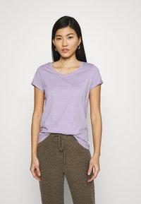 edc by Esprit - SLUB TEE - Basic T-shirt - lilac - 0