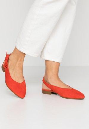Slingback ballet pumps - koralle