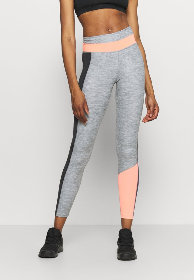 ONE 7/8 - Leggings - smoke grey/bright mango