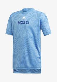 adidas Performance - MESSI T-SHIRT - T-shirt imprimé - blue - 0