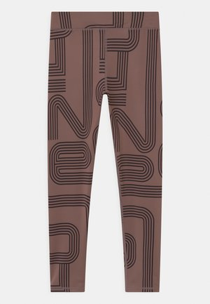 TRAIN GIRLS - Leggings - deep taupe/black