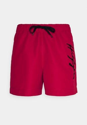 LOGO MEDIUM DRAWSTRING - Swimming shorts - red