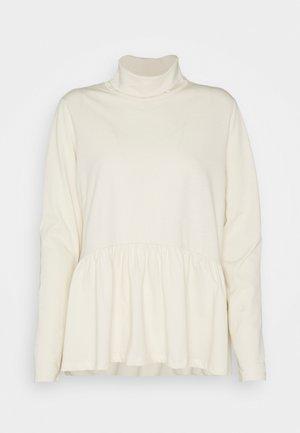 PCSERENE ROLL NECK - Long sleeved top - whitecap gray