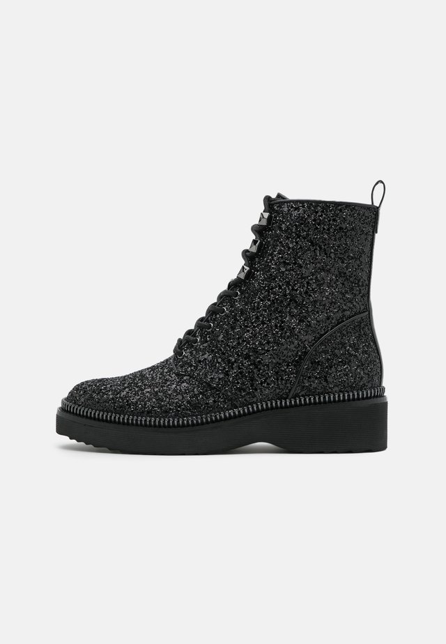 HASKELL BOOTIE - Bottines à lacets - black