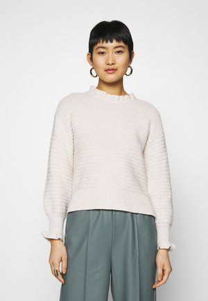 RUFFLE MOCKNECK - Jumper - heather oak