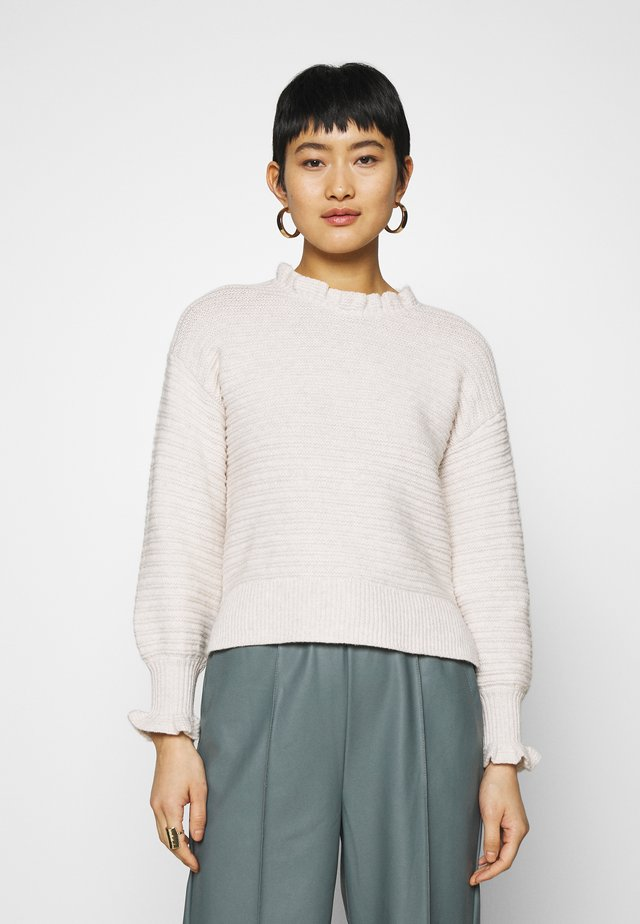 RUFFLE MOCKNECK - Trui - heather oak