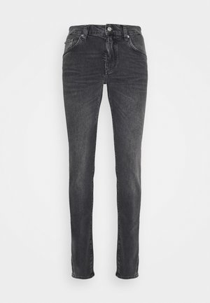 JAY SLATE WASHED JEANS - Slim fit jeans - black