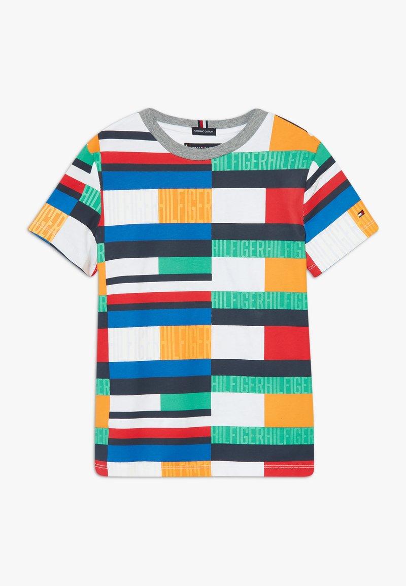 Tommy Hilfiger - BRIGHT FLAG TEE - T-shirt print - blue