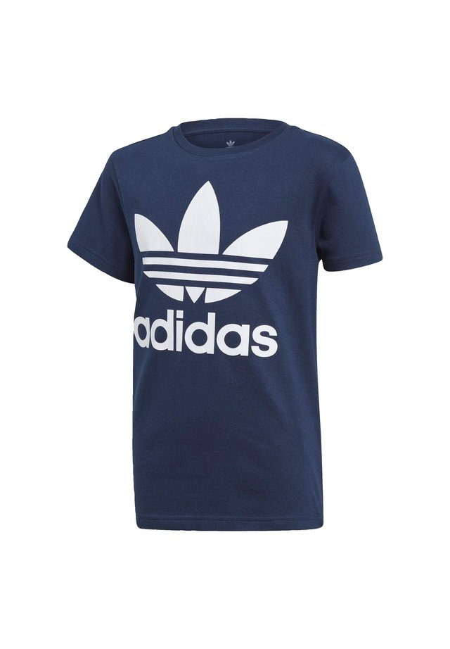 TREFOIL - T-shirt med print - conavy/white