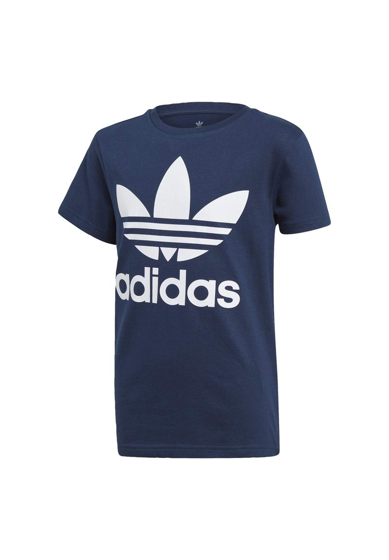 adidas Originals - TREFOIL - Print T-shirt - conavy/white