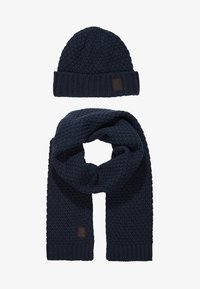 Only & Sons - ONSCENZ BOX SCARF BEANIE SET - Scarf - blue nights - 3