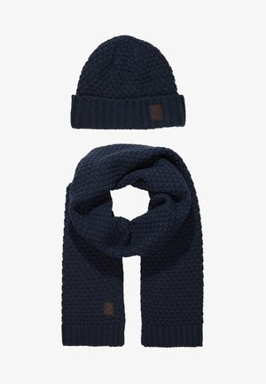 ONSCENZ BOX SCARF BEANIE SET - Halsduk - blue nights