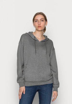 IMA LOGO HOOD  - Huppari - mottled dark grey