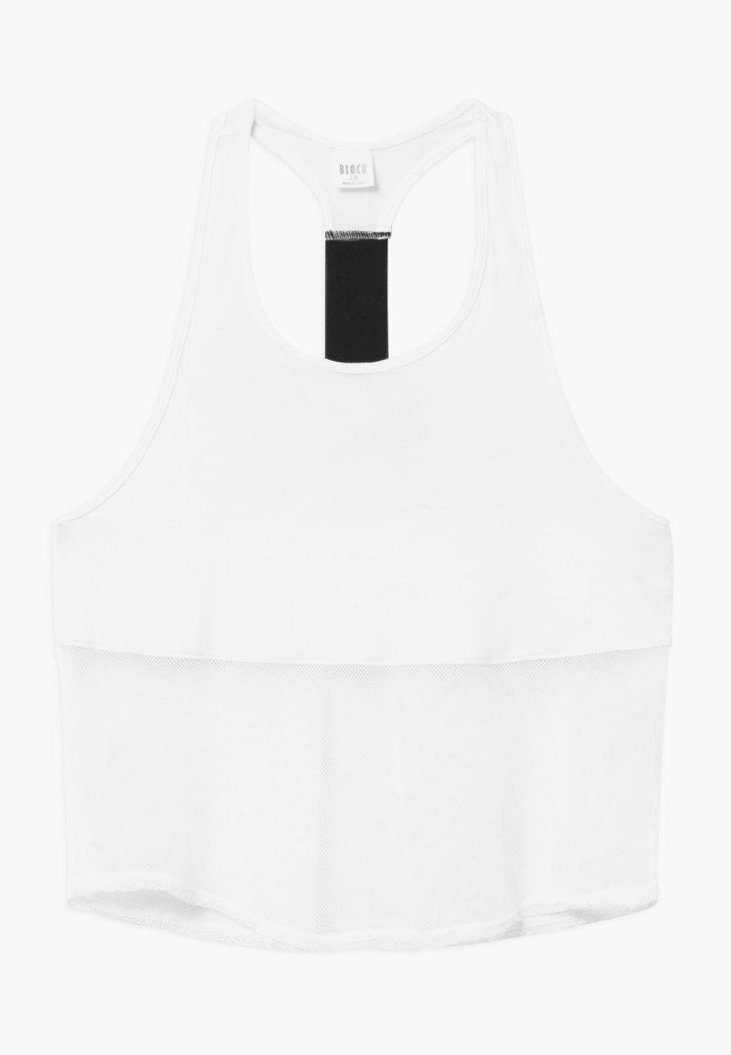 Bloch - GIRLS CROP TEE - Top - white