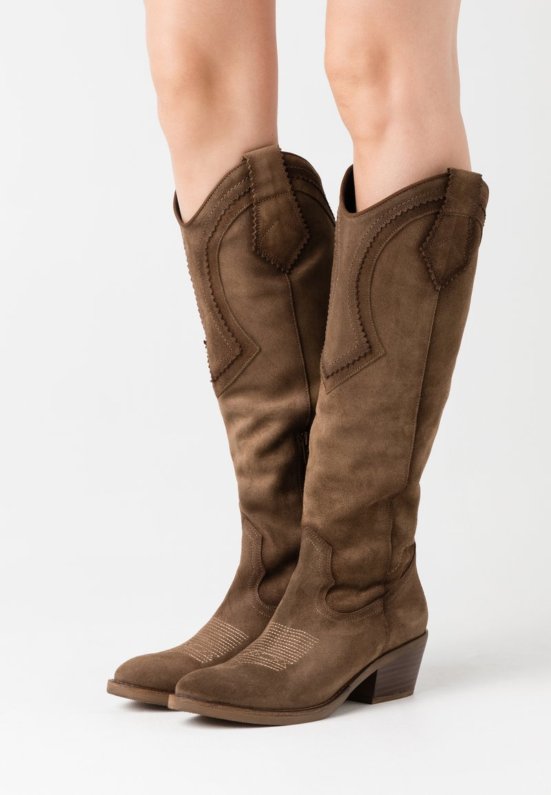 Kanna - Cowboy/Biker boots - cortina taupe