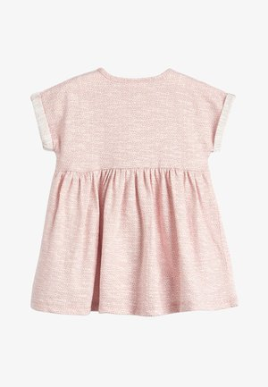 LIGHT TEAL JERSEY DRESS (0MTHS-2YRS) - Trikoomekko - pink
