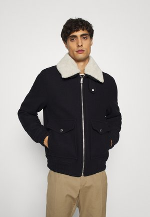 COLLAR FLIGHT JACKET - Allvädersjacka - blue