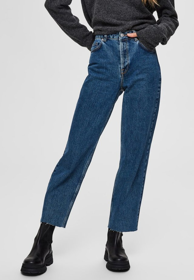 STRAIGHT FIT HIGH WAIST - Jeans Straight Leg - medium blue denim