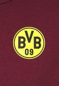 Puma - BVB BORUSSIA DORTMUND CULTURE TRACK  - Club wear - burgundy/cyber yellow - 5