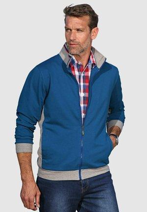 Zip-up sweatshirt - blau,grau