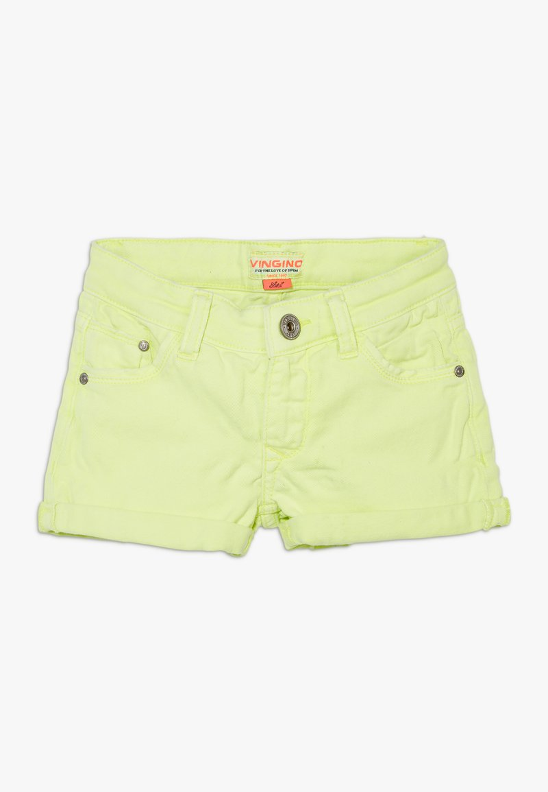 Vingino - DELIA - Denim shorts - neon yellow