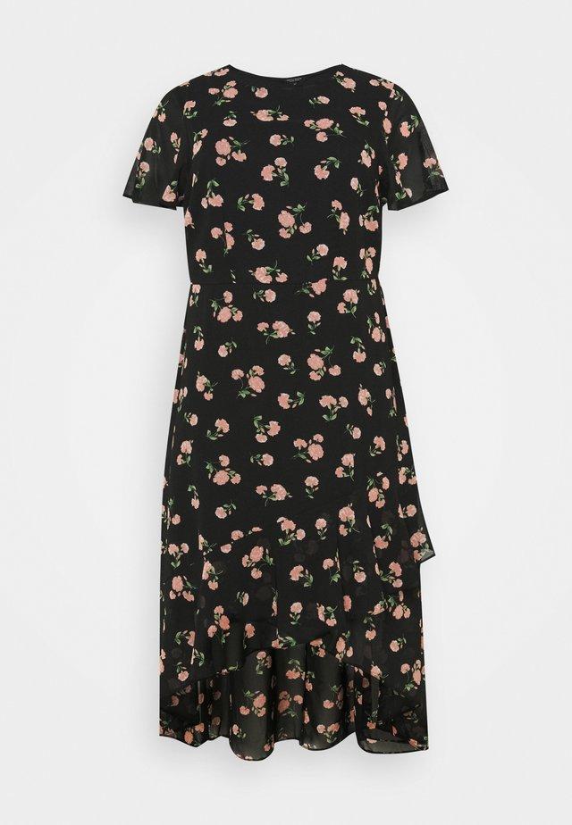 DAISY PUFF SLEEVE SHIRT DRESS - Kjole - multi