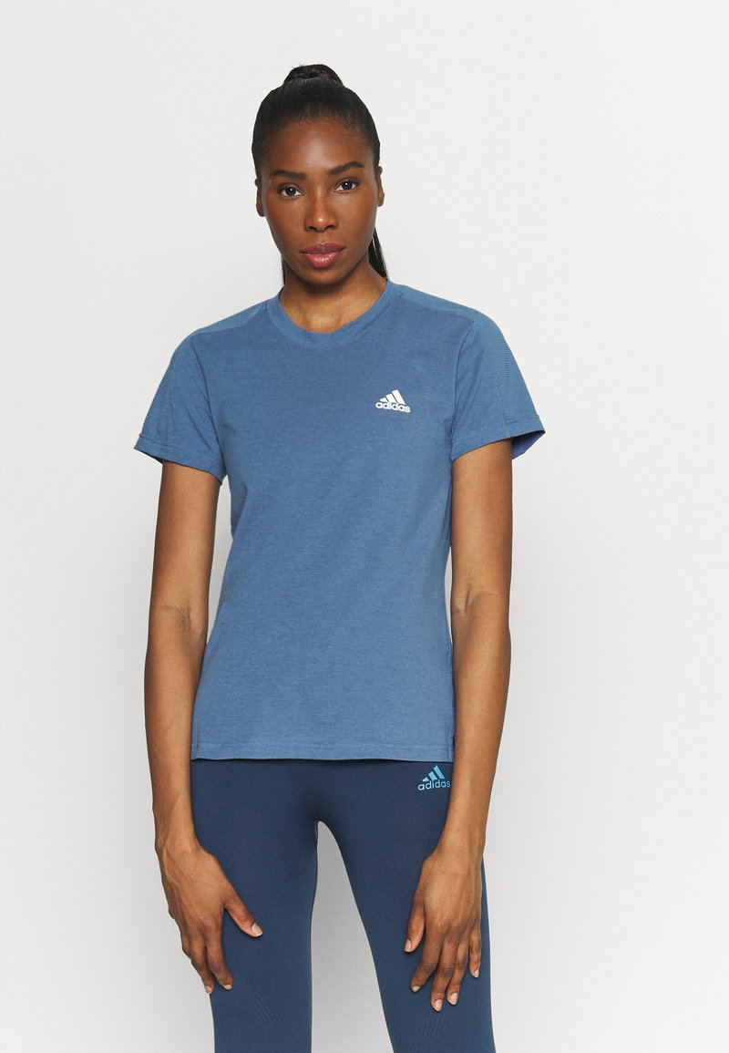adidas Performance - T-shirt basique - blu/white