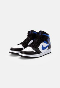 Jordan - AIR 1 MID - Korkeavartiset tennarit - white/racer blue black - 1
