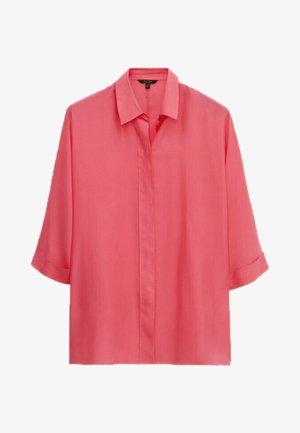 Button-down blouse - neon pink