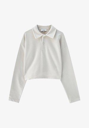 MIT POLOKRAGEN - Sweatshirt - white