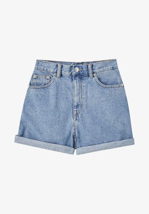 Denim shorts - mottled dark blue