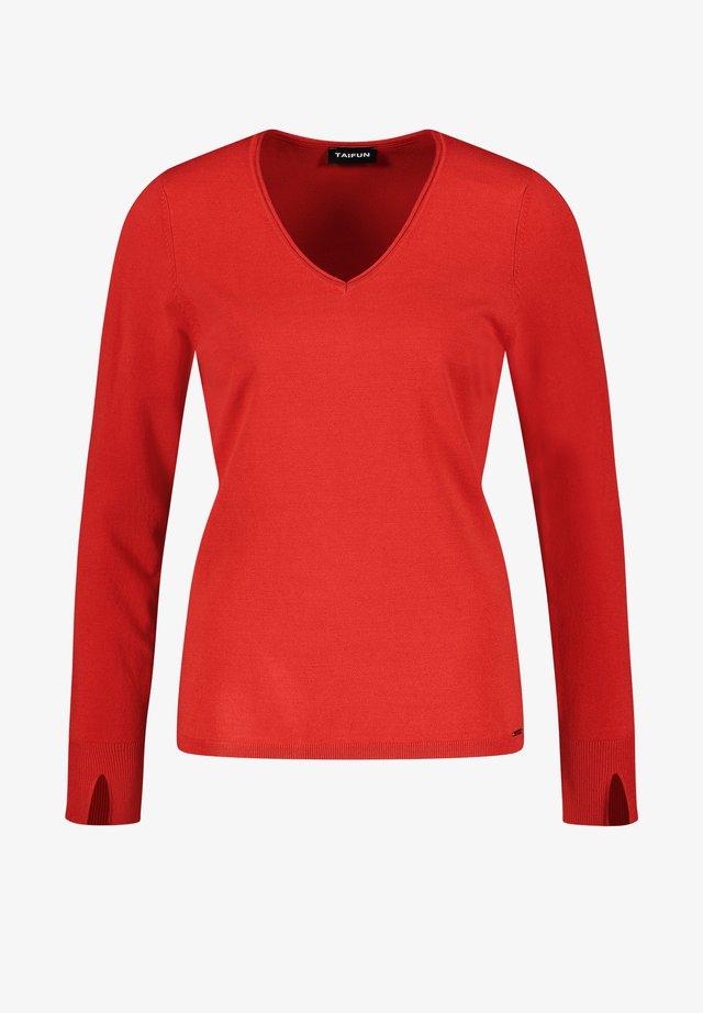 MIT V-AUSSCHNITT - Pullover - carmine red