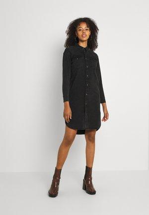 ONLMARIE LONG SHIRT - Shirt dress - black denim