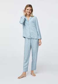 OYSHO - STAR SHIRT - Pyjama top - light blue - 1