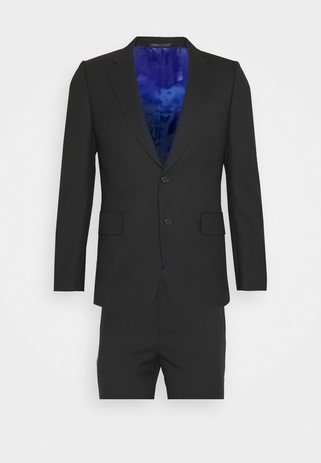 GENTS TAILORED FIT BUTTON SUIT - Kostym - black