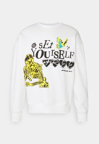 SET YOURSELF FREE UNISEX - Sweatshirt - off white