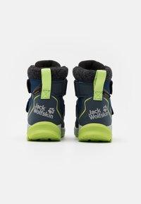 Jack Wolfskin - POLAR BEAR TEXAPORE MID UNISEX - Winter boots - blue/lime - 2