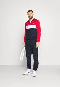 Lacoste Sport - TRACKSUIT - Tracksuit - ruby/navy blue/white - 1