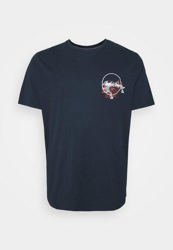 JORCALIFLOMAX TEE CREW NECK - T-shirt med print - navy blazer