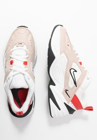 Nike Sportswear - M2K TEKNO - Sneakers - fossil stone/summit white/track red/black/oracle aqua - 3